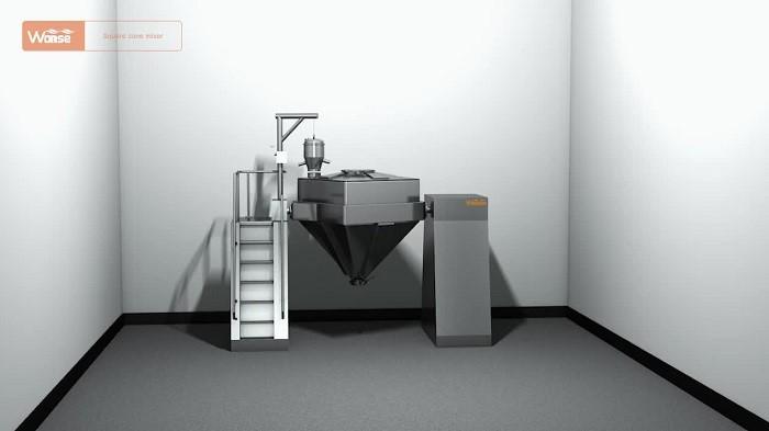 O CE aprovou a venda quente misturador quadrado do escaninho do cone para a indústria farmacêutica