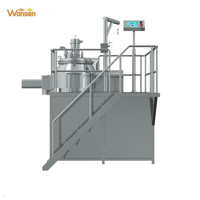 High speed PLC control wet mixer granulation equipment / high rapid mixer granulator