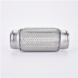 Connectez le tuyau flexible tressé en fil d'acier inoxydable avec une tresse interne (1,75 po de diamètre x 10,00 po de longueur)