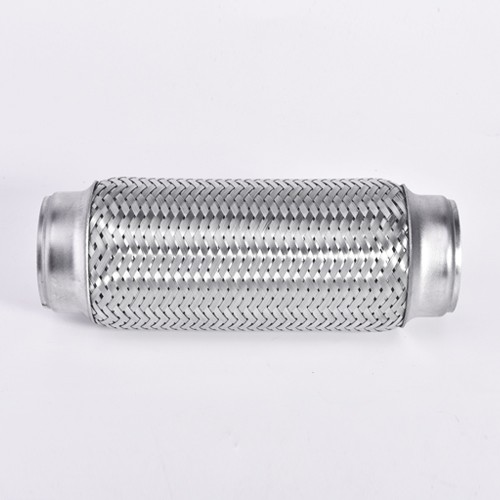 Connecter un connecteur de tuyau flexible en acier inoxydable à double entrée de 2,5 pouces (longueur totale de 6 pouces)