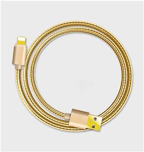 Lightning Sync cable with Metal spring cable Manufacturers, Lightning Sync cable with Metal spring cable Factory, Supply Lightning Sync cable with Metal spring cable