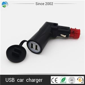 Hella Din Plug USB adapter Angled Car Charger for Euro Manufacturers, Hella Din Plug USB adapter Angled Car Charger for Euro Factory, Supply Hella Din Plug USB adapter Angled Car Charger for Euro