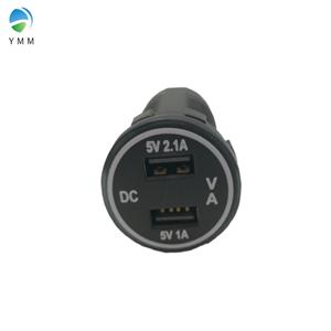 12-24V with Voltmeter and Current meter Nylon dual USB charger for car RV boat Manufacturers, 12-24V with Voltmeter and Current meter Nylon dual USB charger for car RV boat Factory, Supply 12-24V with Voltmeter and Current meter Nylon dual USB charger for car RV boat