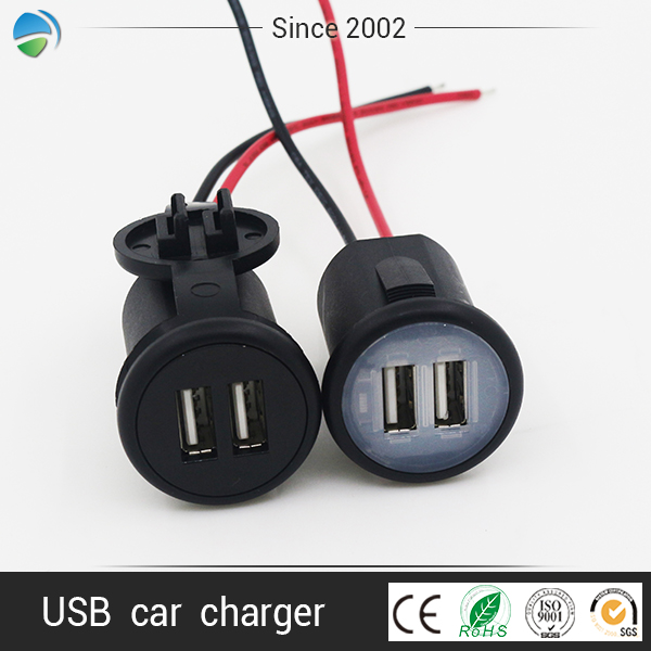 5V 2.1A 4.2A car bus LED car charger dual USB car charger