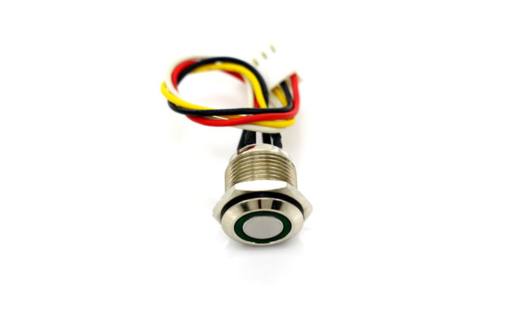 Thread Metal Push Button switch with colorful Light
