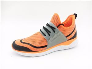 Breathable Flyknit Men Casual Shoes Lace-up Male Fashion Footwear