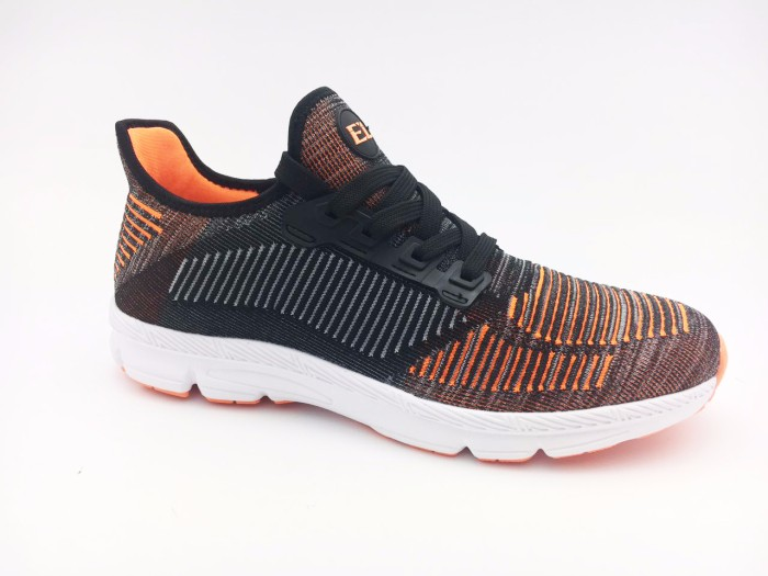 Men Shoes Flyknit Shoes Spring Breathable Lace up Flats Fashion Lightweight Male Footwear