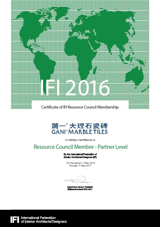 The 1st Chinese Partner of International Federation of Interior Designers/Architects (IFI)