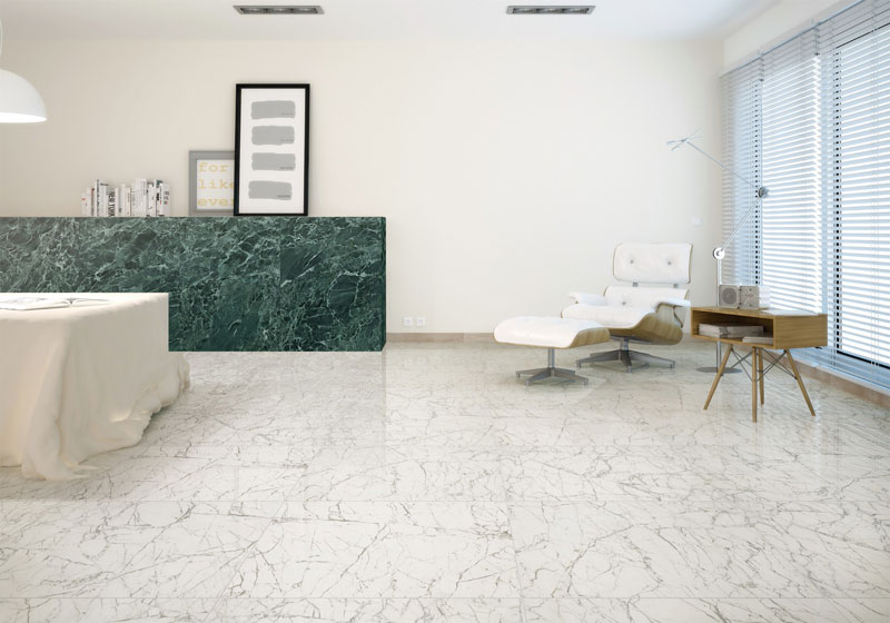 White Carrara White Marble Tiles