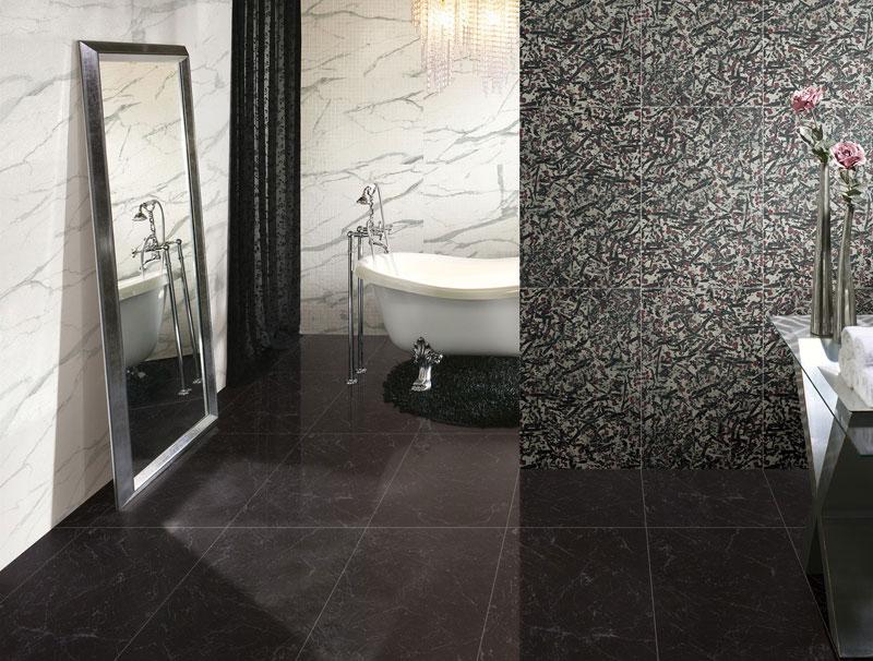Rose Notte Black Marble Tiles