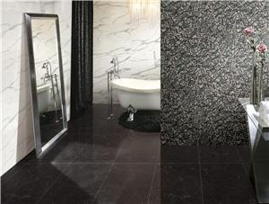 Rose Notte Black Marble Tiles