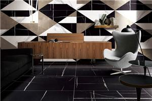 Laurent Black Marble Tiles