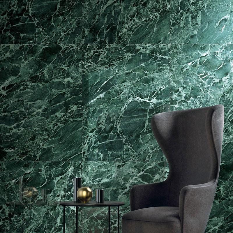 ヴェルデアプリグリーンの大理石のタイル