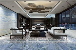 Blue Ocean Featuring Wall Marble Tiles