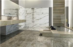 Carreaux de marbre gris argent