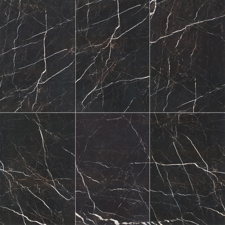 กระเบื้องหินอ่อนสีดำมีเส้นสีขาว