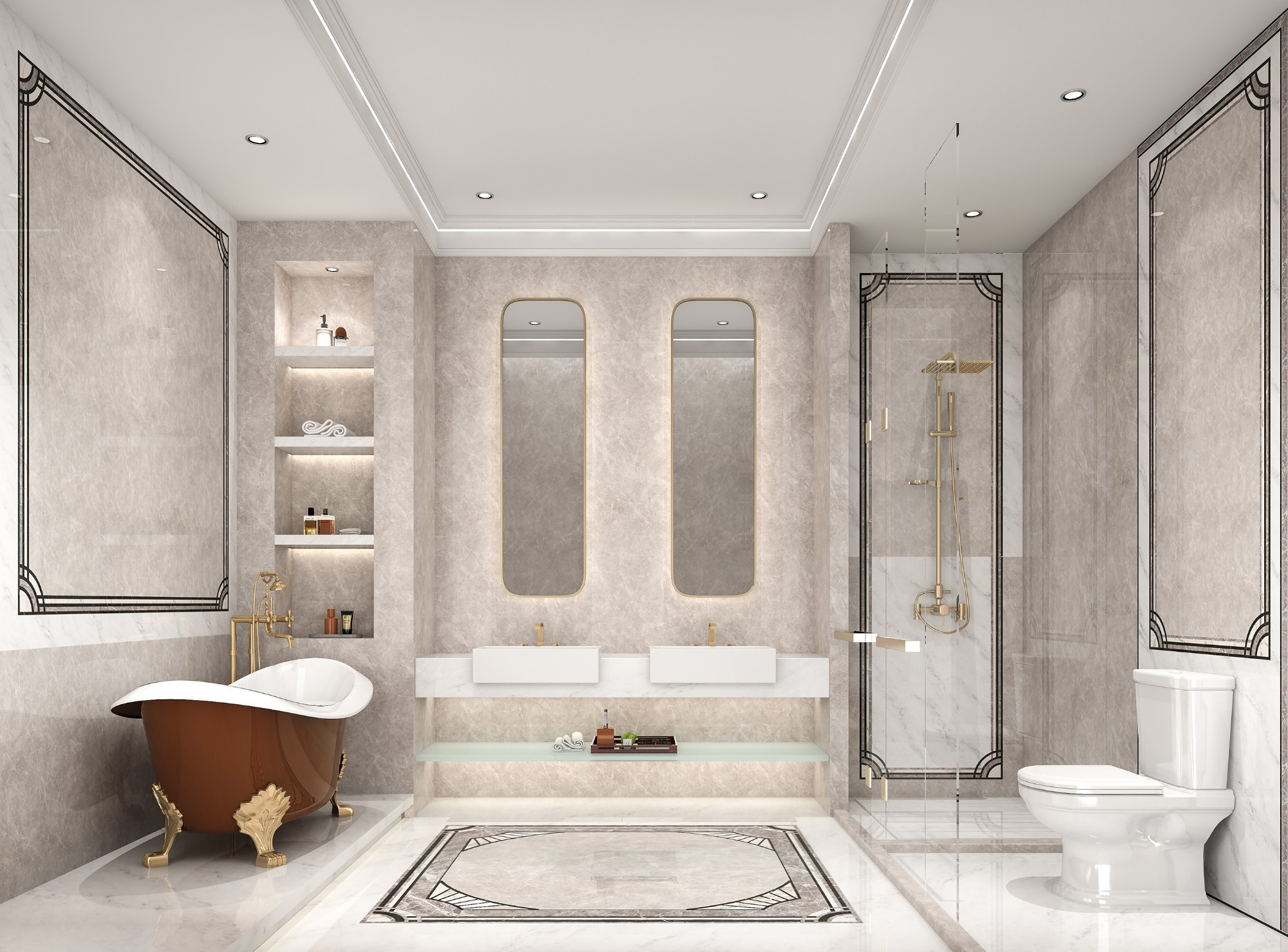Nuvola Marrone Marble Tiles Manufacturers, Nuvola Marrone Marble Tiles Factory, Supply Nuvola Marrone Marble Tiles