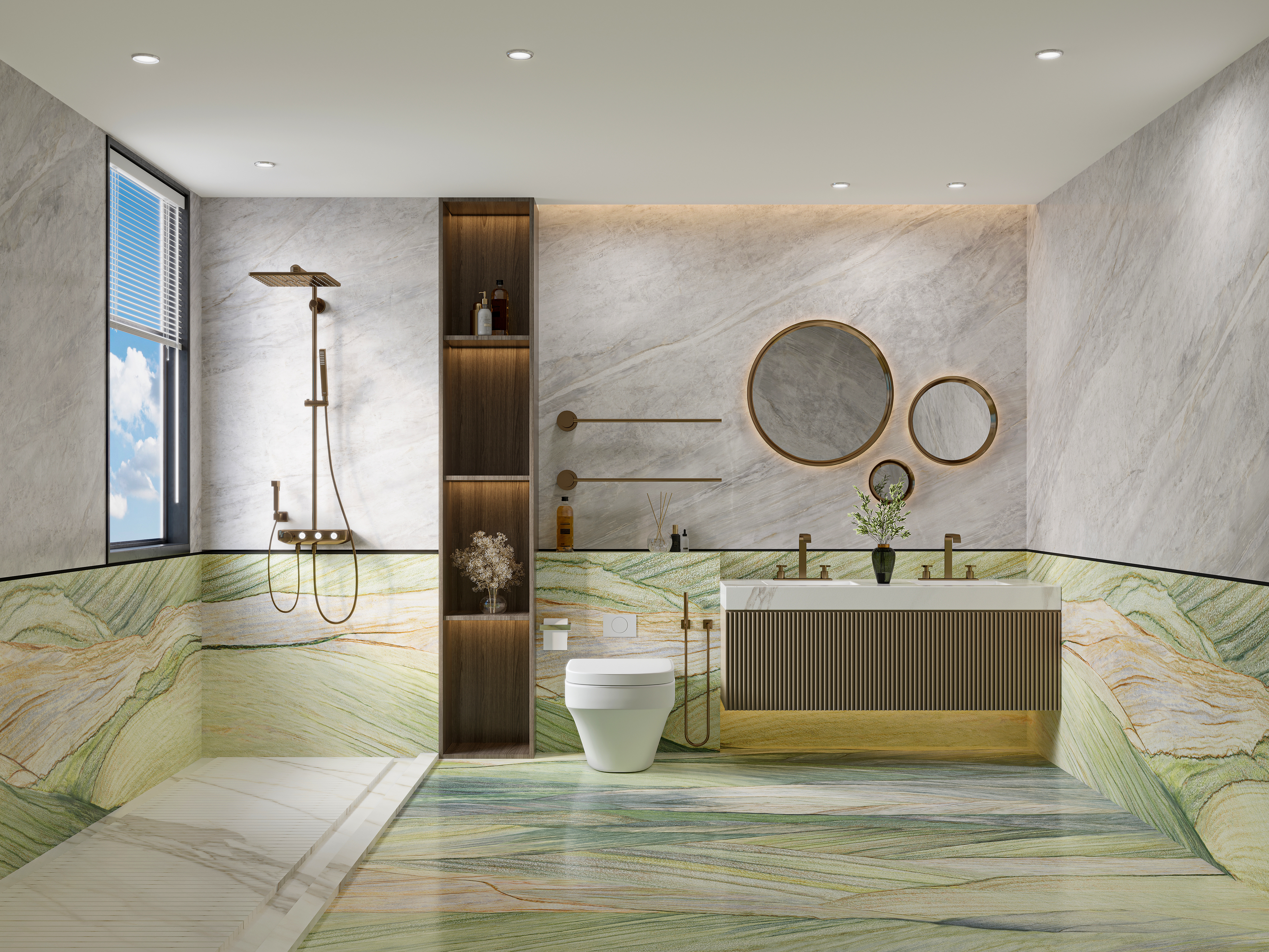 Verde Lapponia Marble Tiles