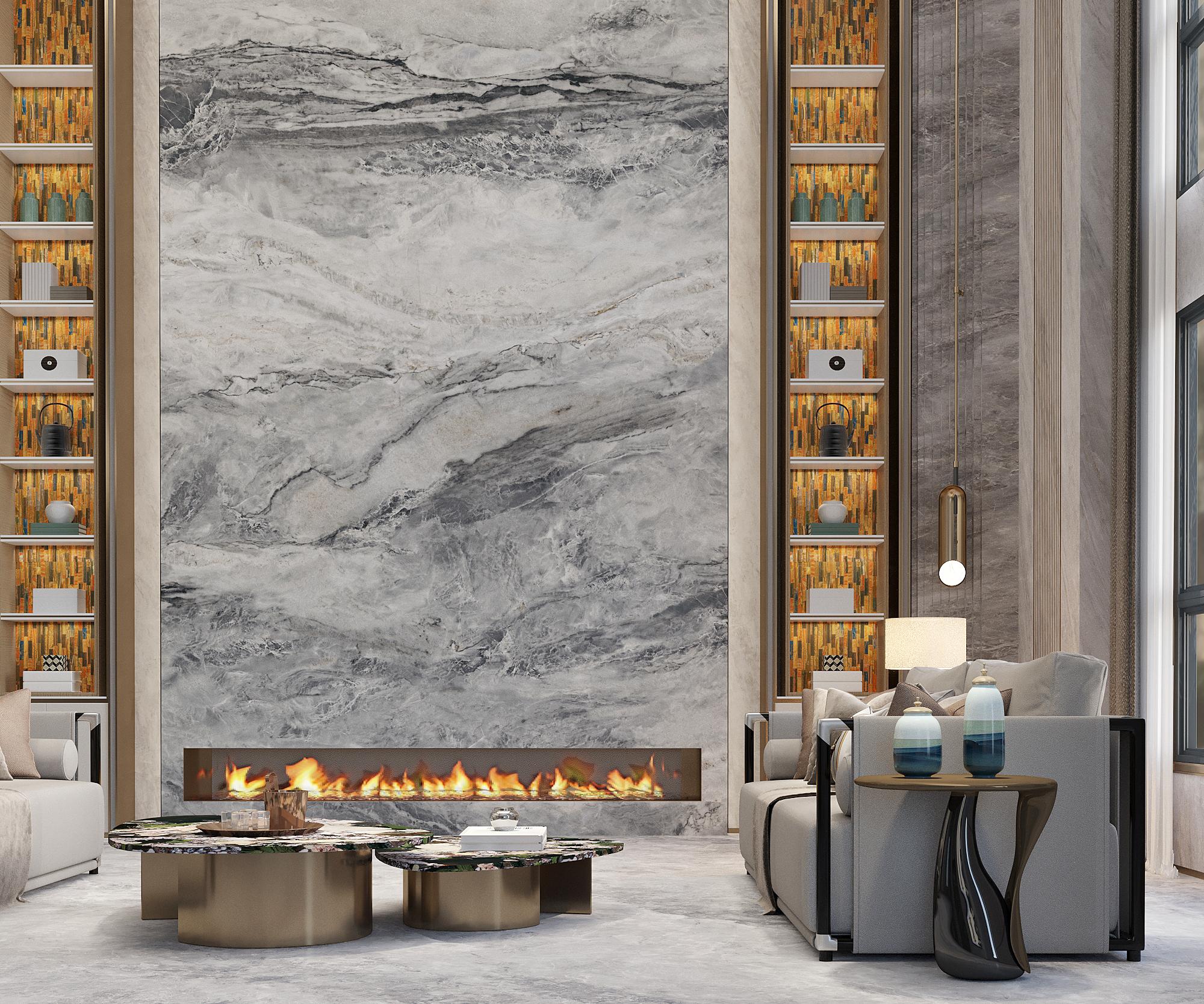 Louis Grey Marble Tiles