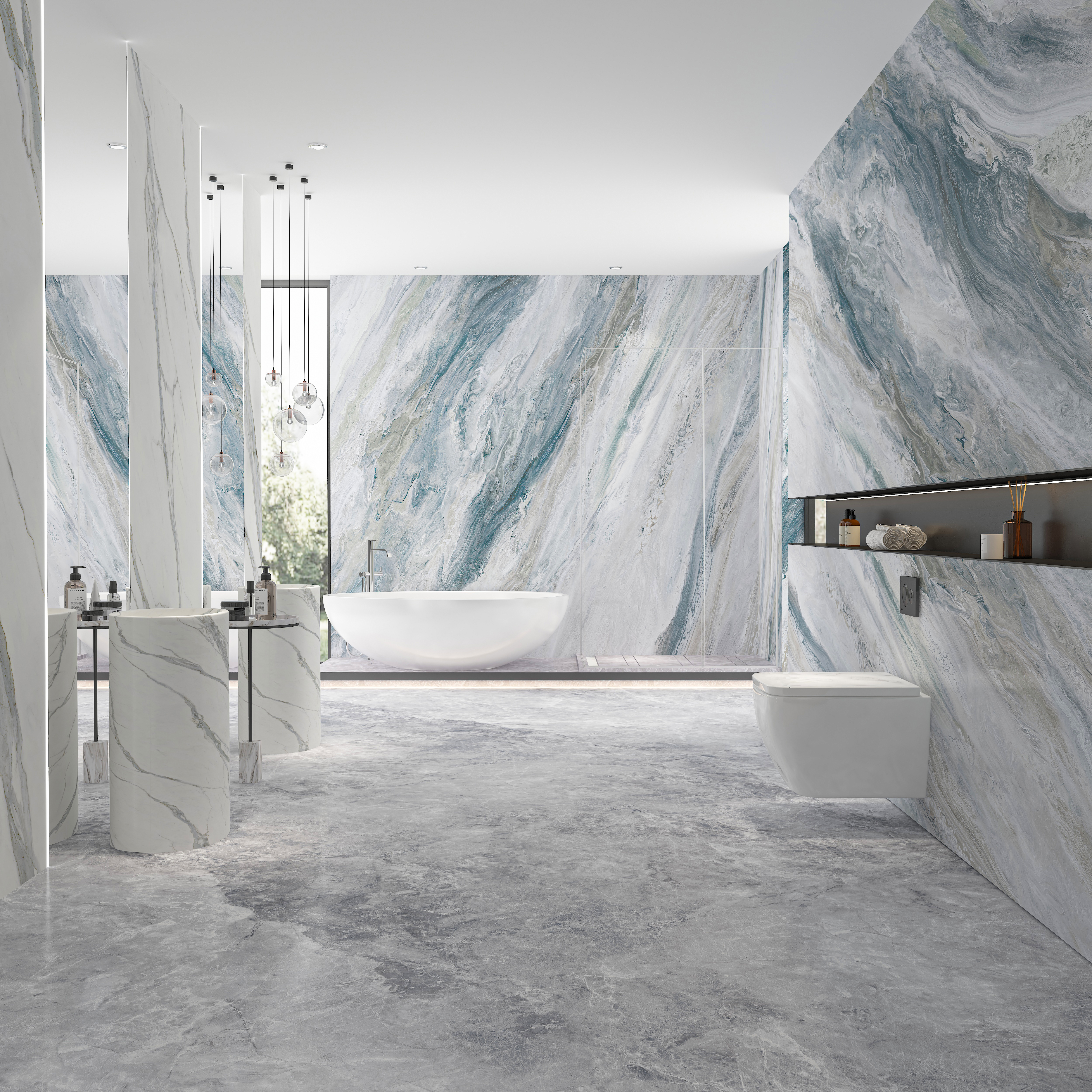 Locke Blue Grey Marble Tiles Manufacturers, Locke Blue Grey Marble Tiles Factory, Supply Locke Blue Grey Marble Tiles