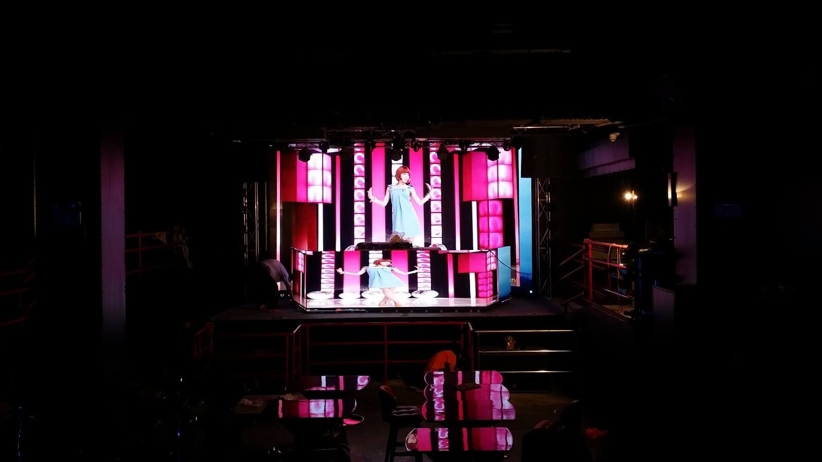 Jinhe Example of led display installed in Bar