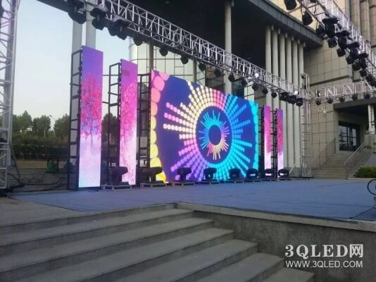 Outdoor rental led display with die casting aluminum cabinet