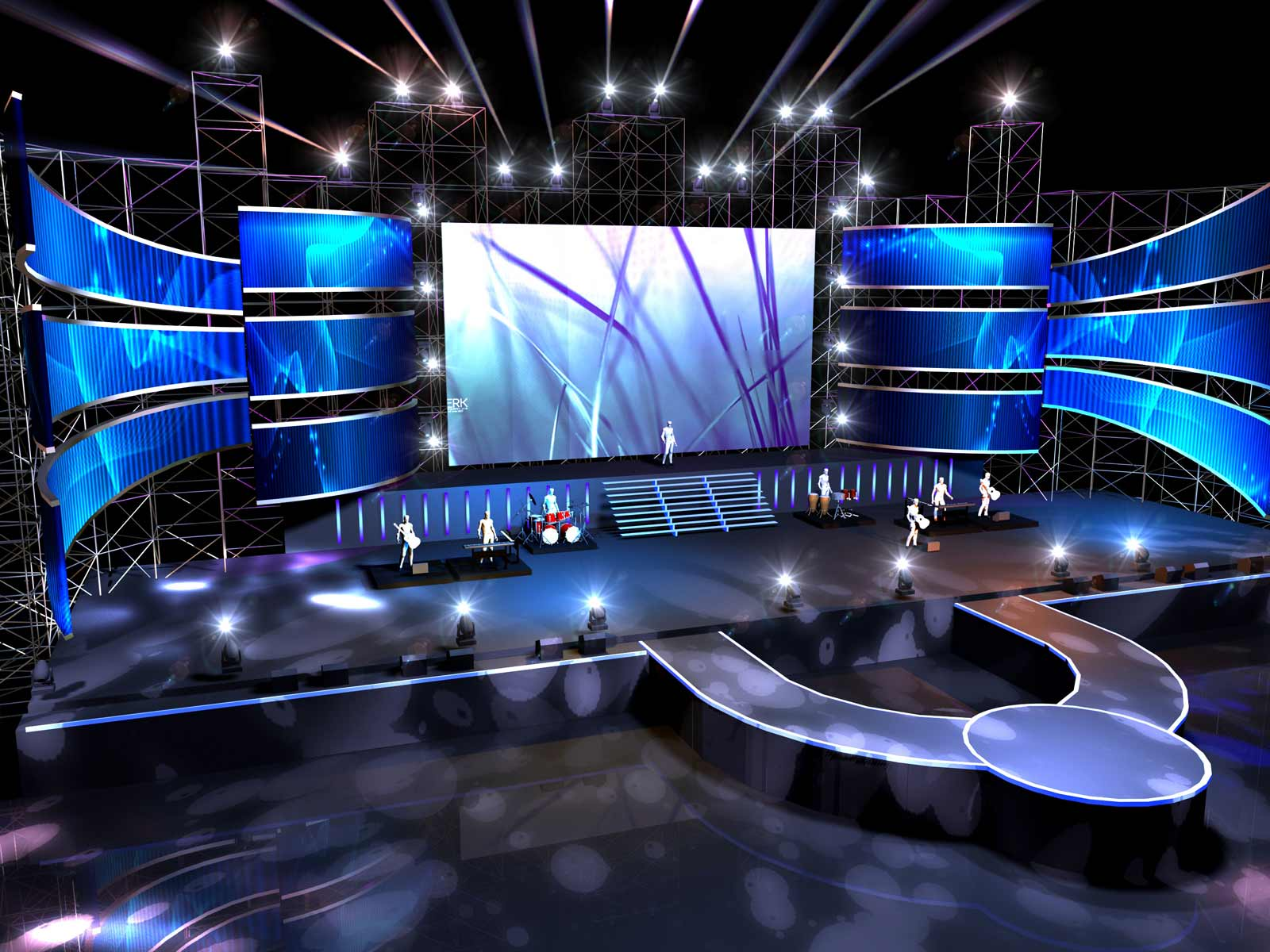 indoor LED display stage screen