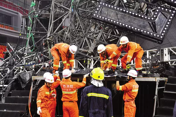 LED rental screen stage collapse,caused a dead and more than 10 injured,Jolin Tsai concert