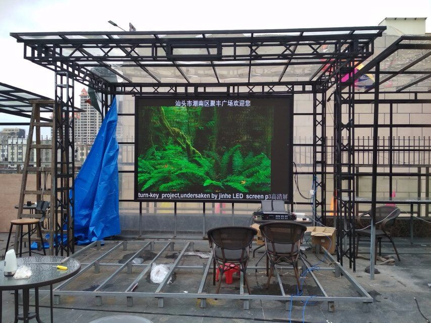 Indoor P3 LED screen plaza project