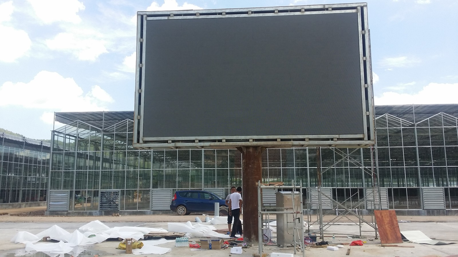 Outdoors P6 Full Color LED Screen(Size:25 ㎡)in Ganzhou, Jiangxi