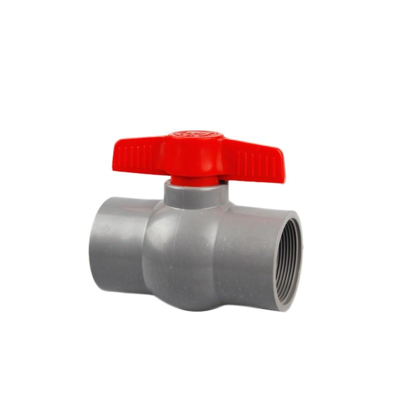 PVC Plastic Ball Valves Pipe Fittings