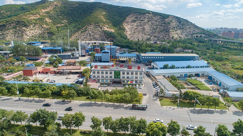 Panoramic view of factory