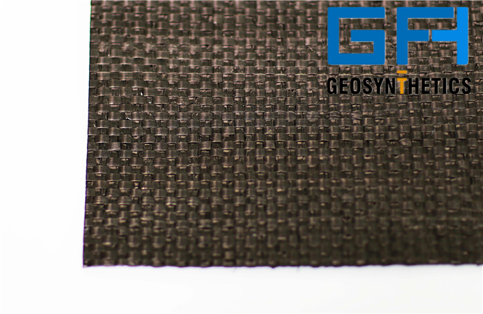Black PP Woven Geotextile for filtration