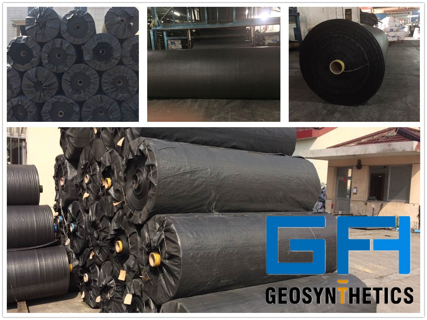 black monofilament Woven fabrics Geotextile for drainage