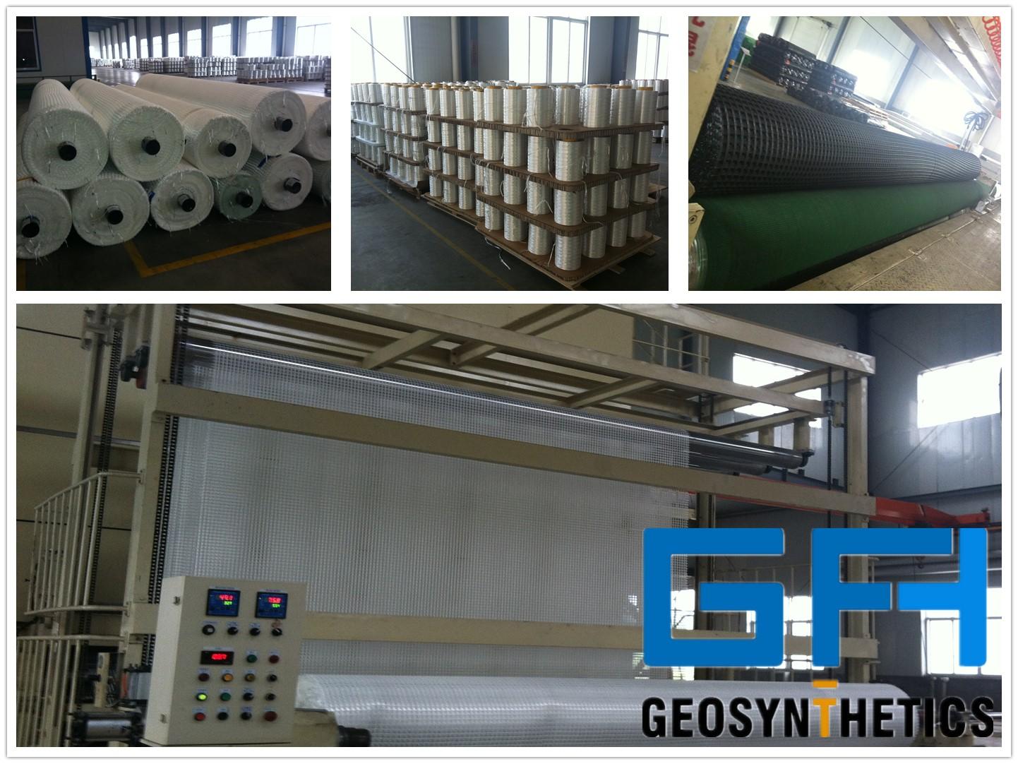 Multipurpose Fiberglass Uniaxial Geogrid