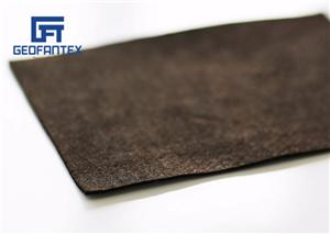 Geotêxtil não tecido preto da fibra do grampo dos PP 145gsm