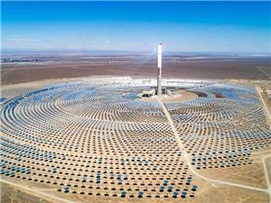2021 新疆哈密塔式50MW光热发电项目即将进行最后调试