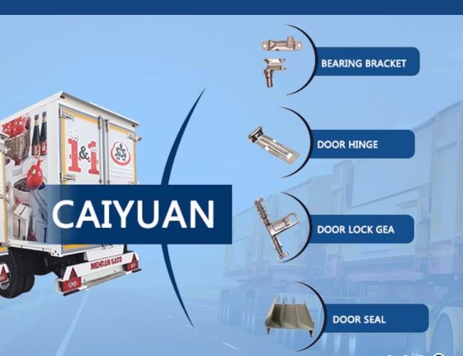 Детали кузова фургона грузовика прицепа