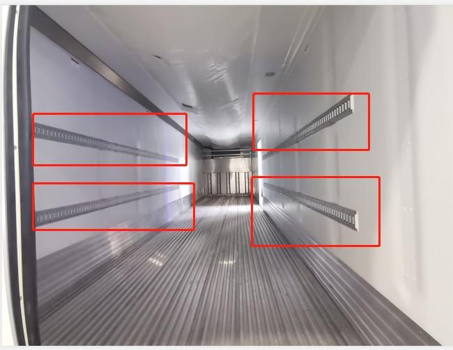 Accessorio interno per furgone Binario orizzontale E in acciaio per il controllo del carico