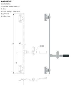 फैक्टरी ३०४ स्टेनलेस स्टील दरवाज़ा बंद गियर