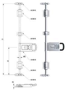 22 मिमी ट्रक दरवाज़ा बंद पैडल हैंडल सेट करता है