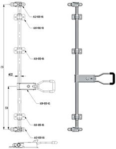 304 स्टेनलेस स्टील ट्रक दरवाज़ा बंद रबर हैंडल लॉक सेट करता है