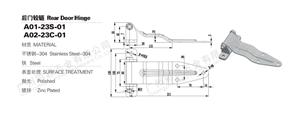 Chine remorque/charnières de porte de fourgonnette arrière pour camion fourgon