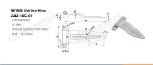 Charnière de porte latérale de camion en fer