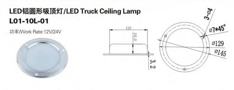 Lampe de plafond de camion à LED directe d'usine
