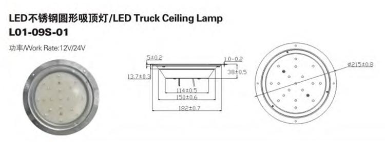 Plafonnier LED moderne étanche à l'eau de camion direct d'usine