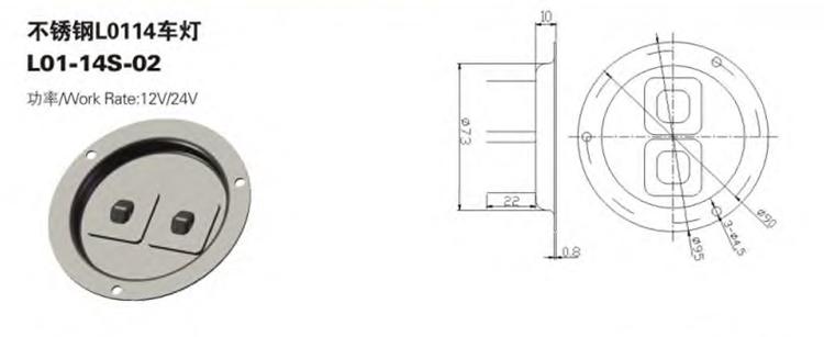 Lampe de plafond LED moderne étanche à l'eau de camion direct d'usine de bonne qualité
