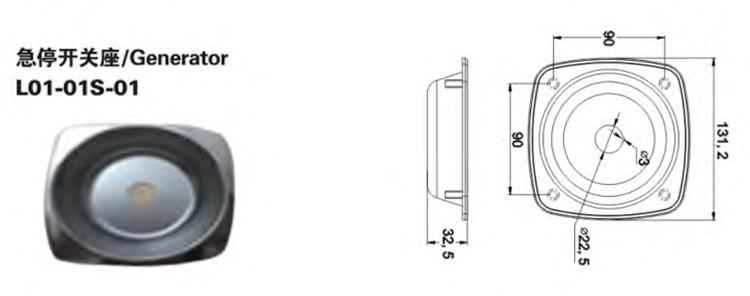 Générateur de plafond LED moderne étanche blanc de camion direct d'usine de bonne qualité