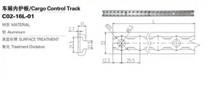 Piste E de contrôle de fret américain en aluminium