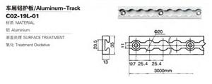 Remorque de contrôle de fret en aluminium E piste